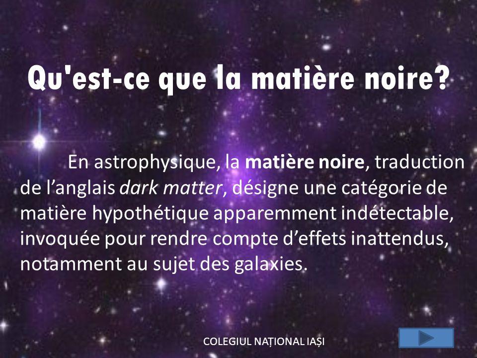Qu est-ce que la matière noire