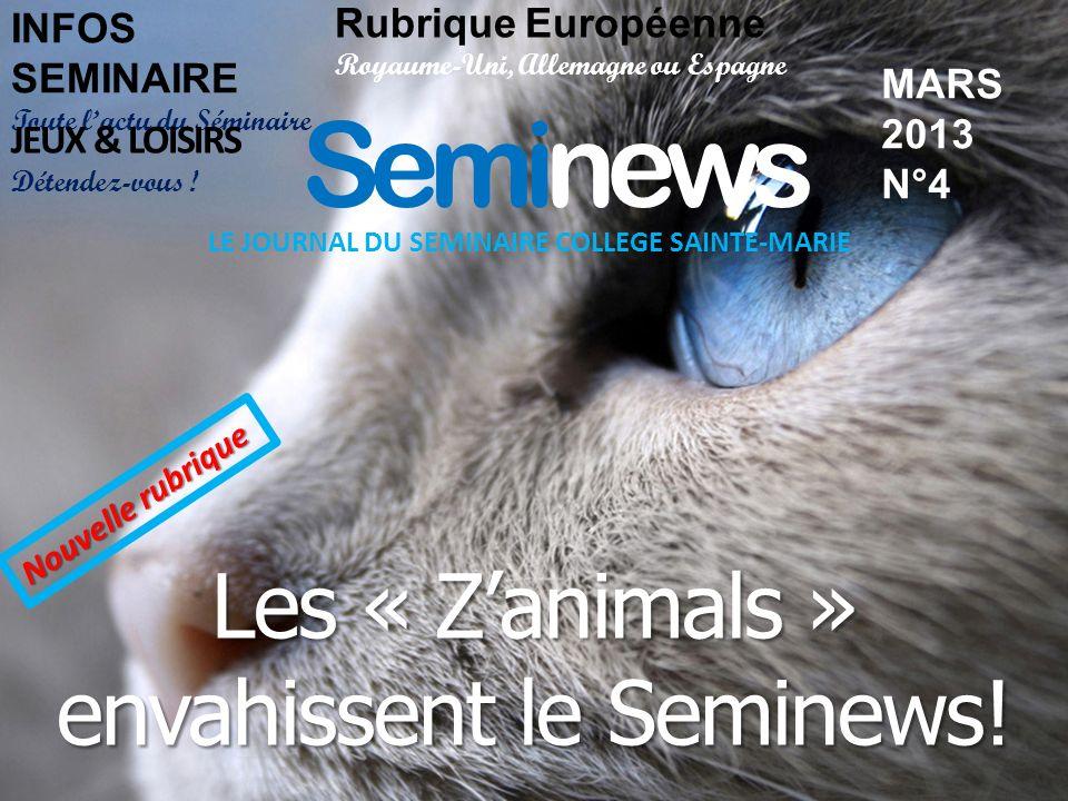 Seminews Les « Z'animals » envahissent le Seminews!