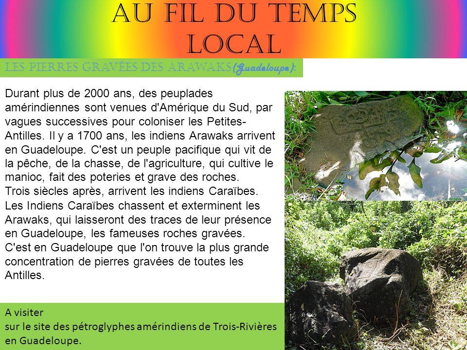 Au fil du temps Local Les pierres gravées des Arawaks(Guadeloupe):