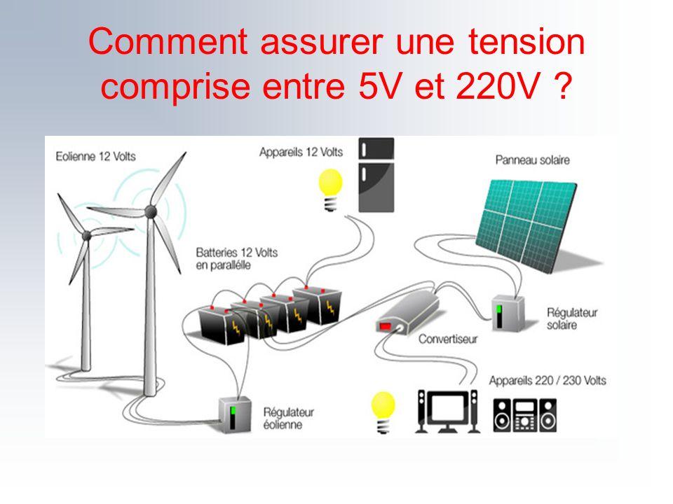 Comment assurer une tension comprise entre 5V et 220V