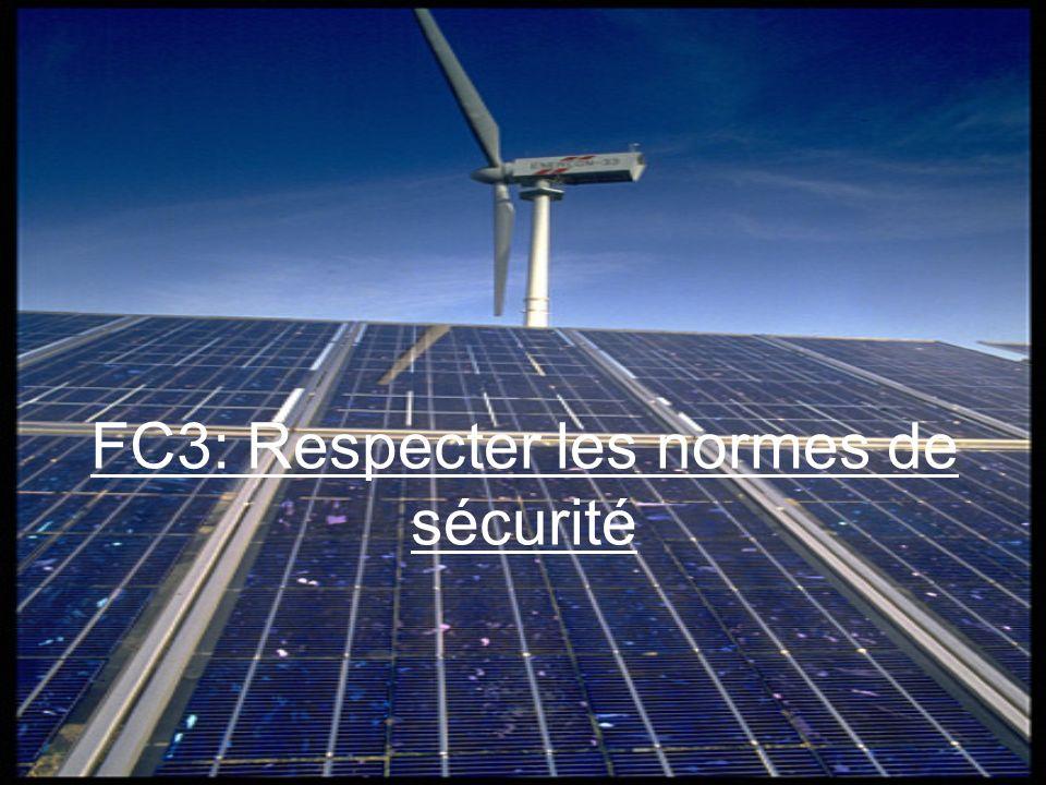 FC3: Respecter les normes de sécurité