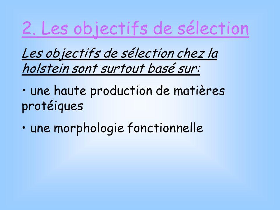 2. Les objectifs de sélection