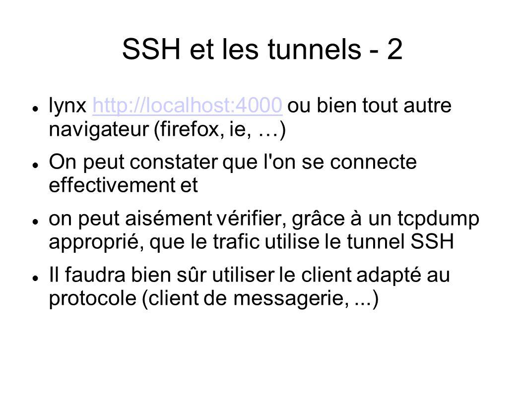 SSH et les tunnels - 2 lynx http://localhost:4000 ou bien tout autre navigateur (firefox, ie, …)