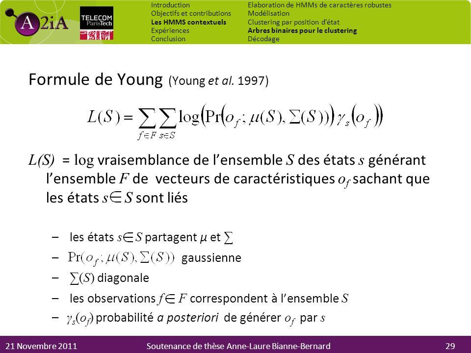 Formule de Young (Young et al. 1997)