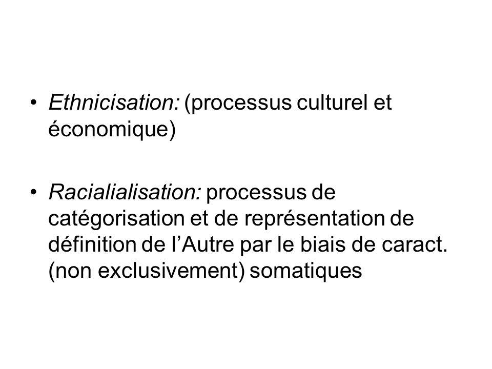 Ethnicisation: (processus culturel et économique)