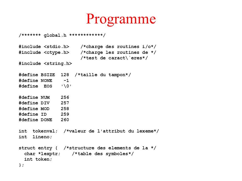 Programme /******* global.h ************/