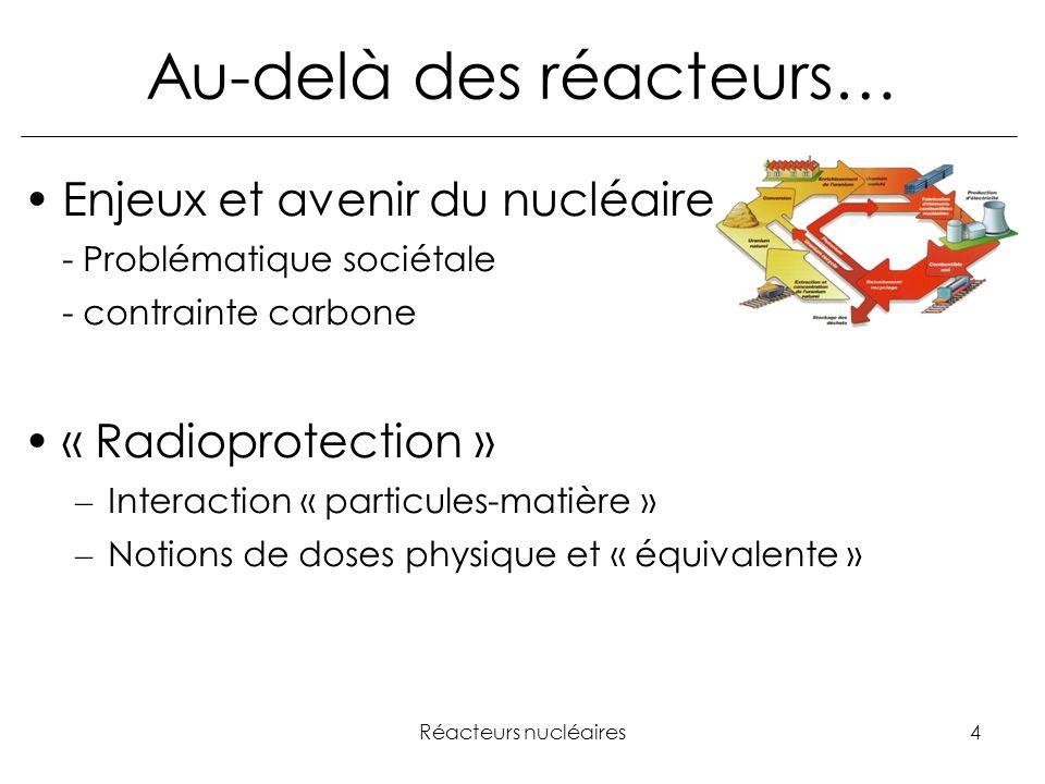 Au-delà des réacteurs…