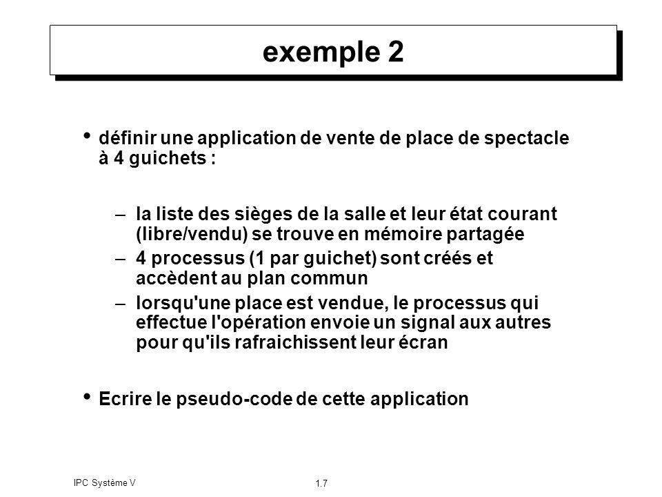 exemple 2 définir une application de vente de place de spectacle à 4 guichets :