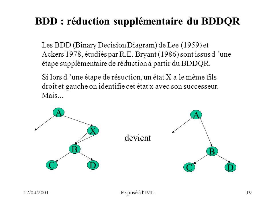 BDD : réduction supplémentaire du BDDQR