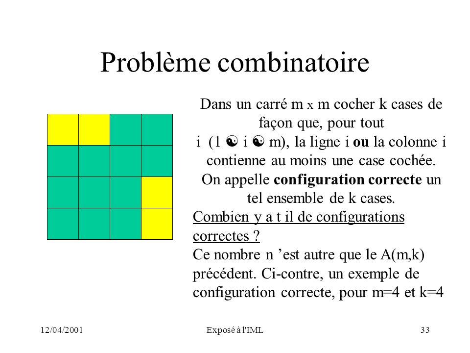 Problème combinatoire