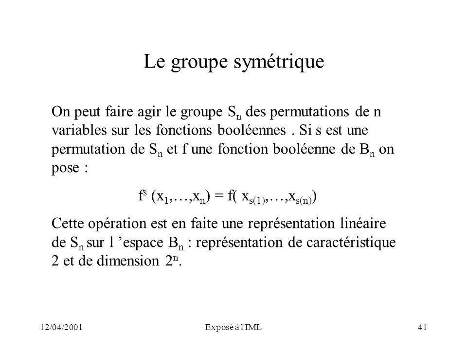 fs (x1,…,xn) = f( xs(1),…,xs(n))