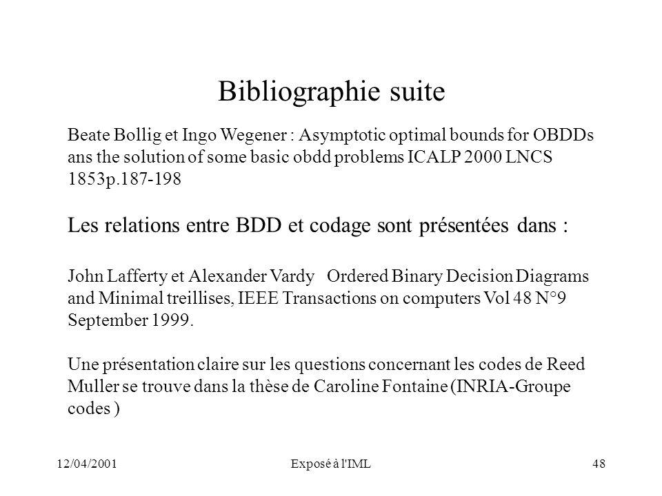 Bibliographie suite