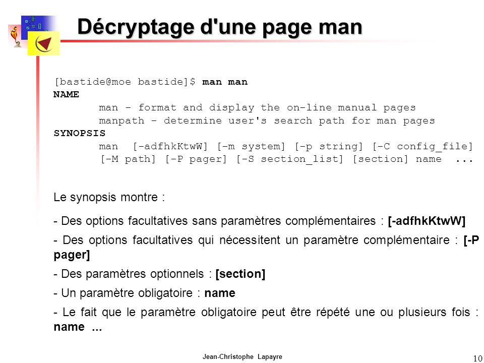 Décryptage d une page man