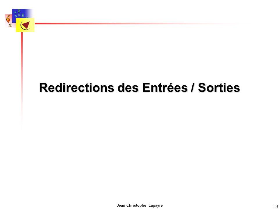 Redirections des Entrées / Sorties