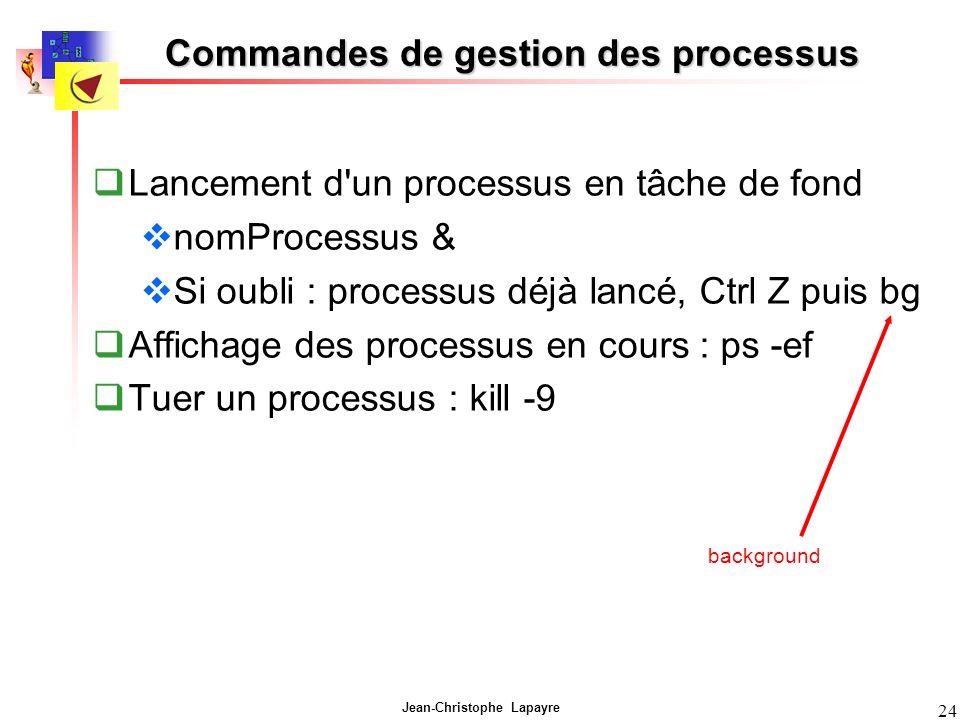 Commandes de gestion des processus