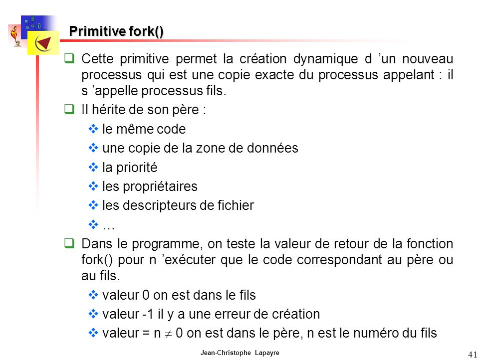 Primitive fork()
