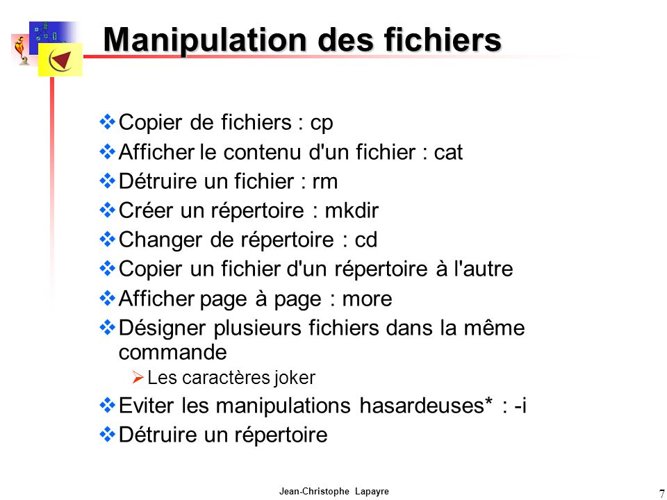Manipulation des fichiers