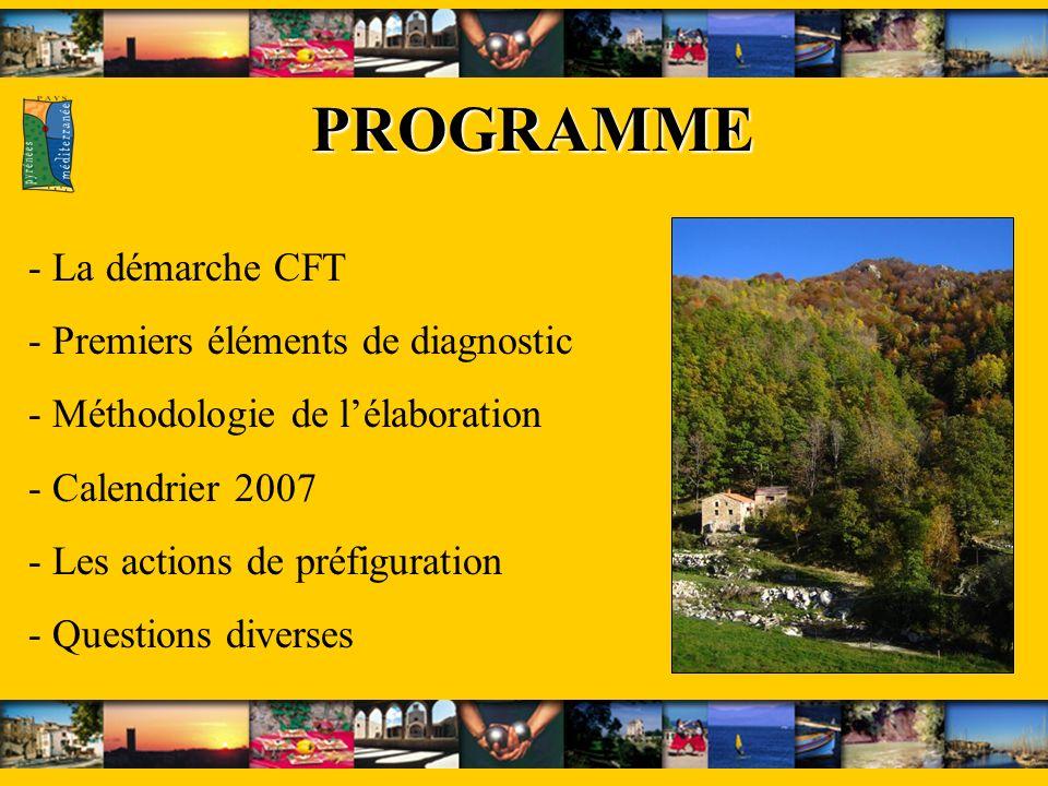 PROGRAMME La démarche CFT Premiers éléments de diagnostic