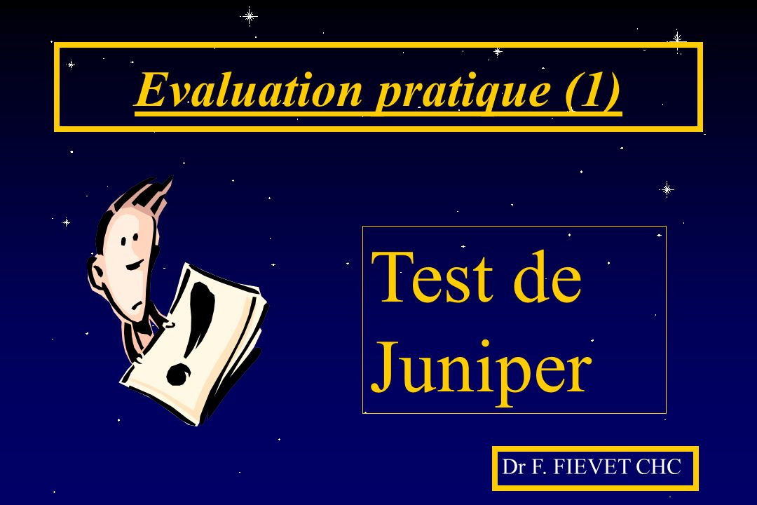 Evaluation pratique (1)