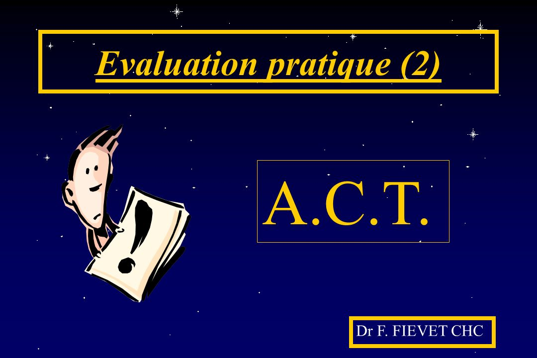 Evaluation pratique (2)