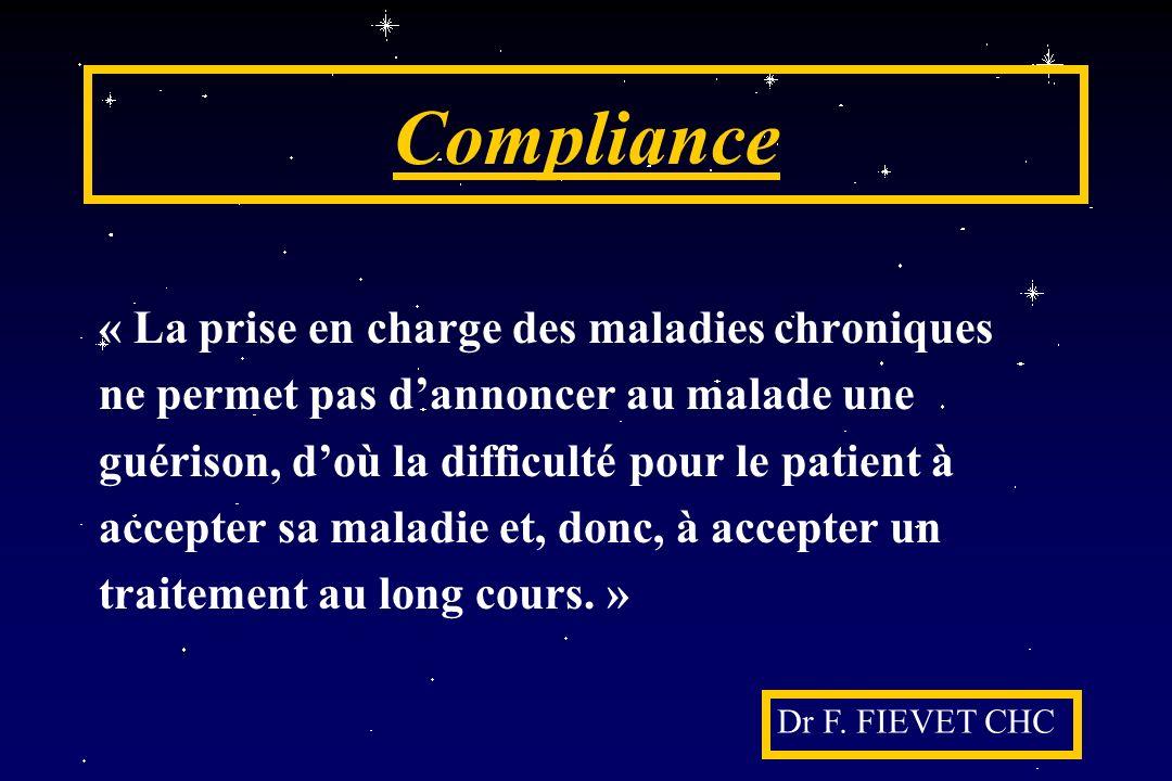 Compliance « La prise en charge des maladies chroniques