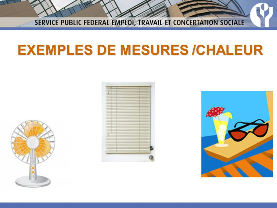 EXEMPLES DE MESURES /CHALEUR