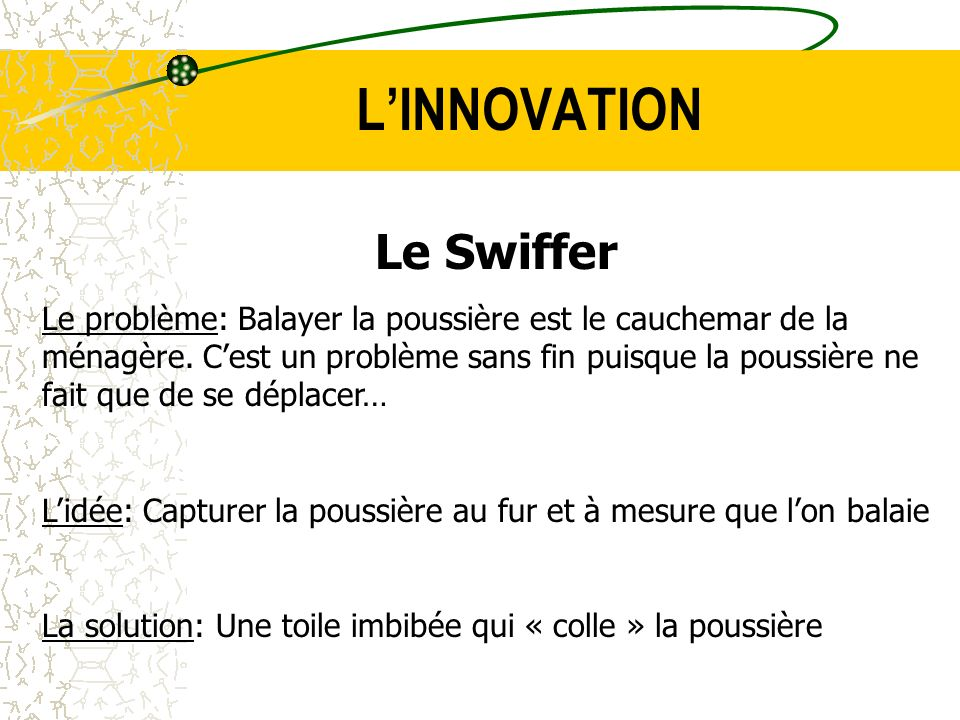 L'INNOVATION Le Swiffer