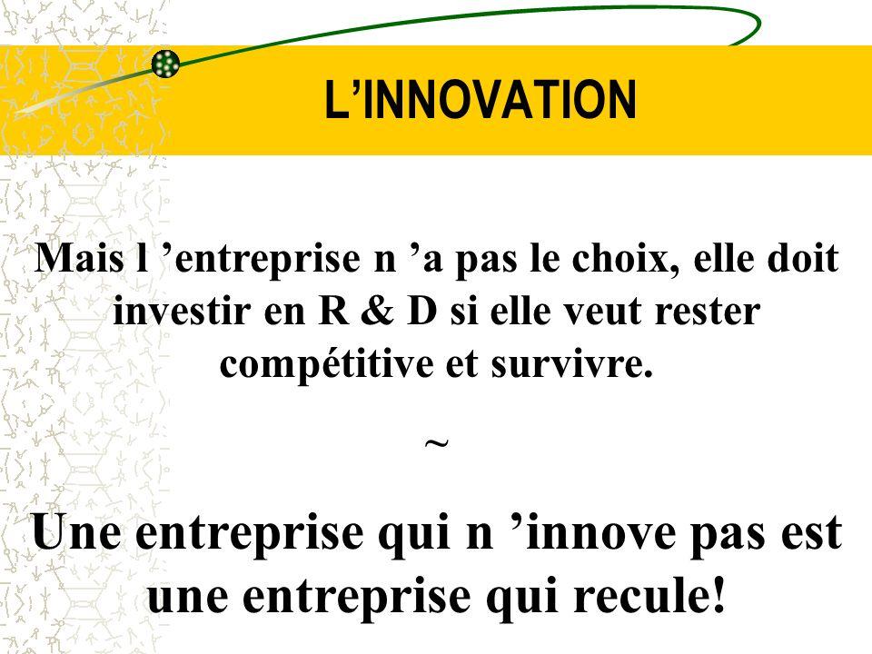 Une entreprise qui n 'innove pas est une entreprise qui recule!