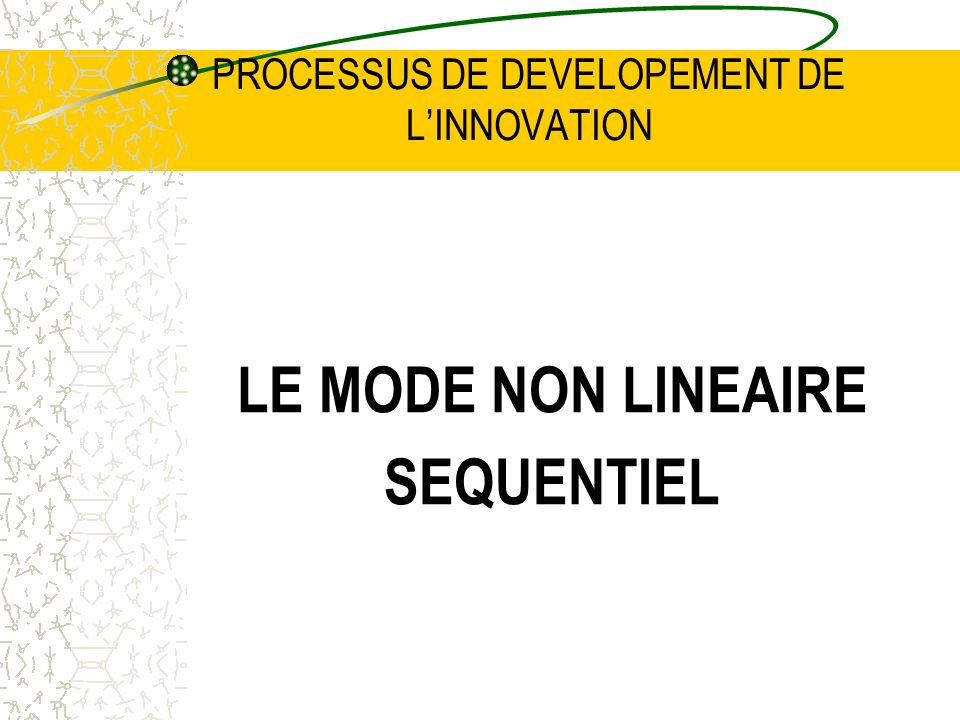 PROCESSUS DE DEVELOPEMENT DE L'INNOVATION