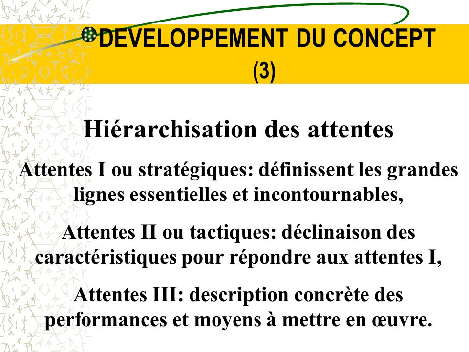 DEVELOPPEMENT DU CONCEPT (3)