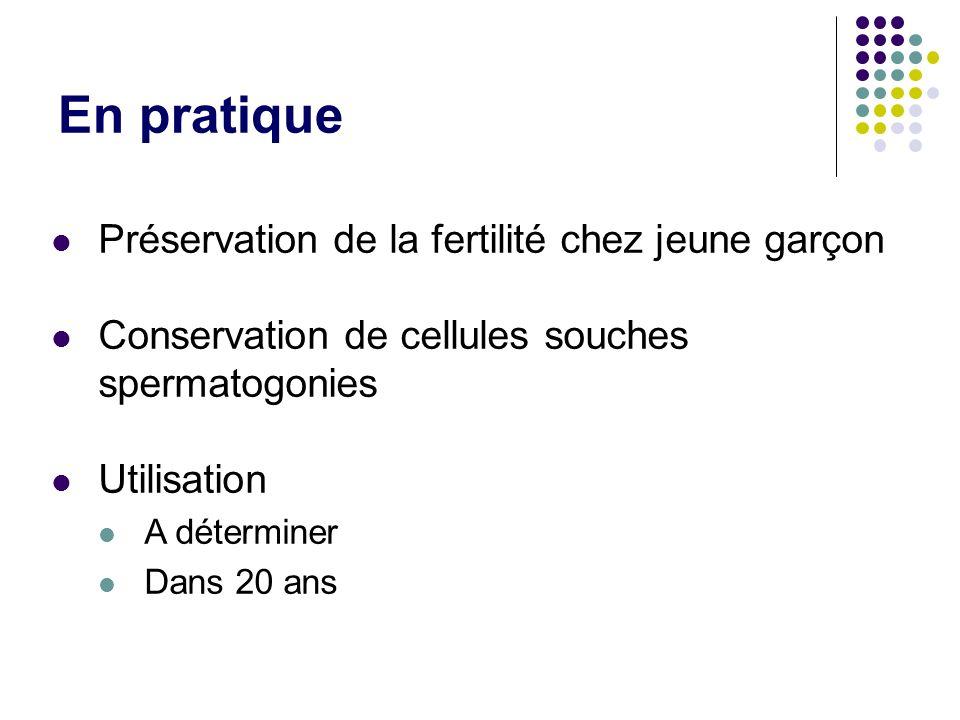 En pratique Préservation de la fertilité chez jeune garçon