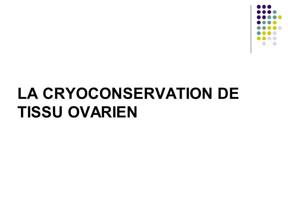 LA CRYOCONSERVATION DE TISSU OVARIEN