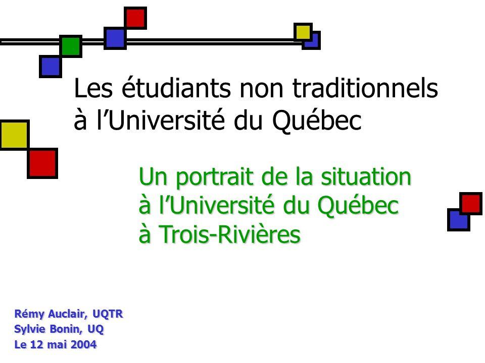 Les étudiants non traditionnels à l'Université du Québec