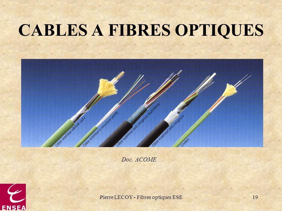 CABLES A FIBRES OPTIQUES