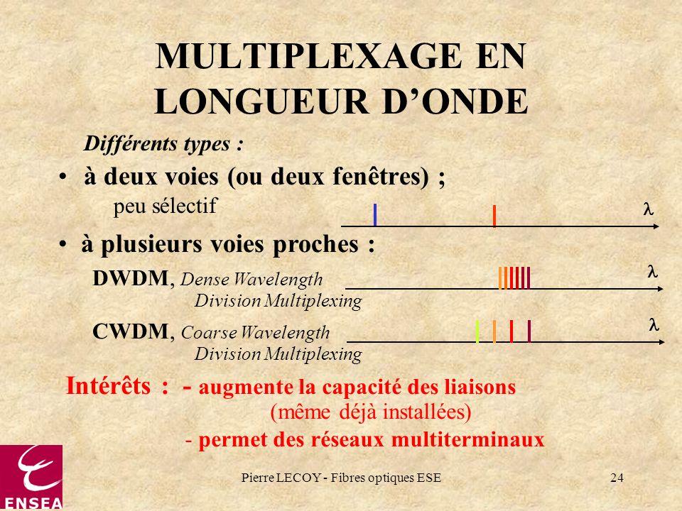 MULTIPLEXAGE EN LONGUEUR D'ONDE