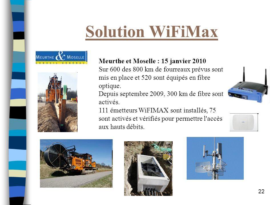 Solution WiFiMax Meurthe et Moselle : 15 janvier 2010