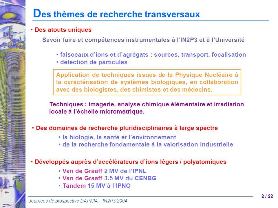 Des thèmes de recherche transversaux
