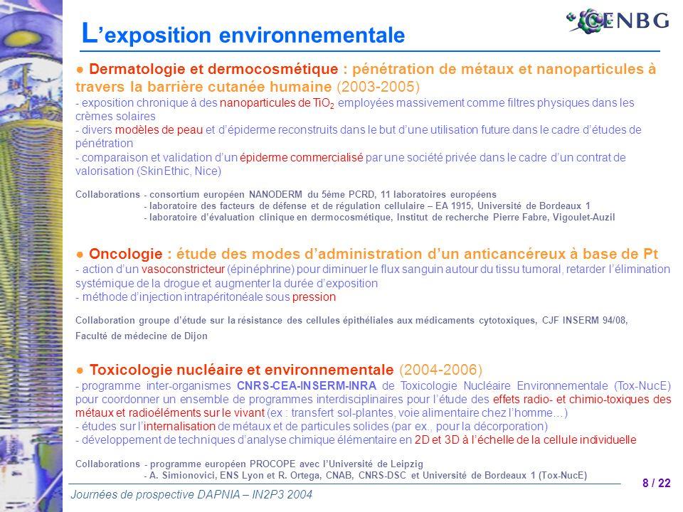 L'exposition environnementale