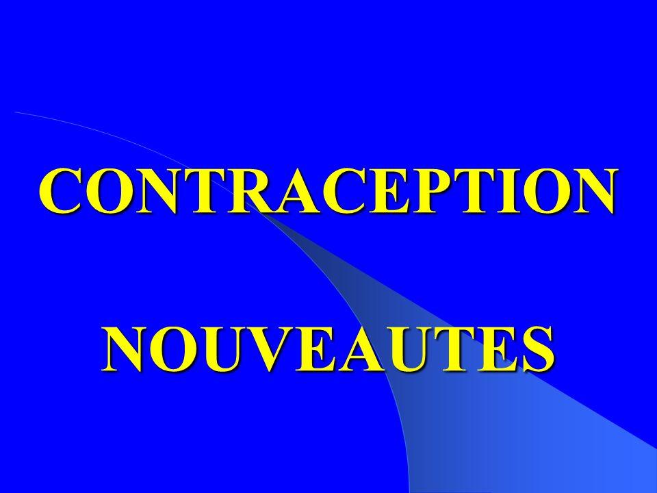 CONTRACEPTION NOUVEAUTES