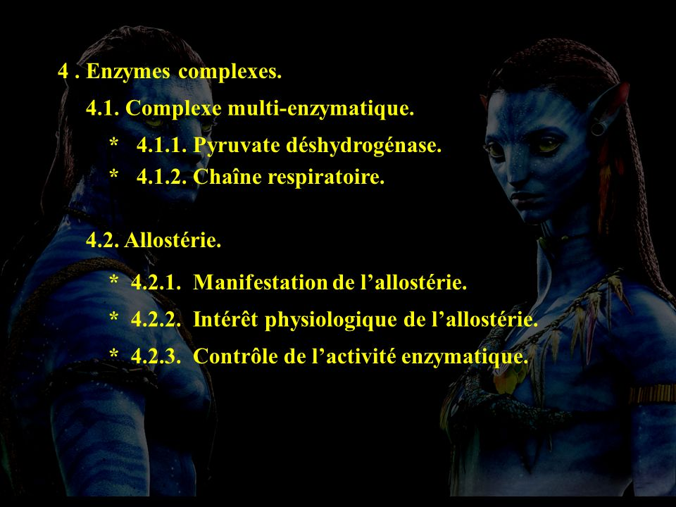 plan 4 4 . Enzymes complexes. 4.1. Complexe multi-enzymatique.
