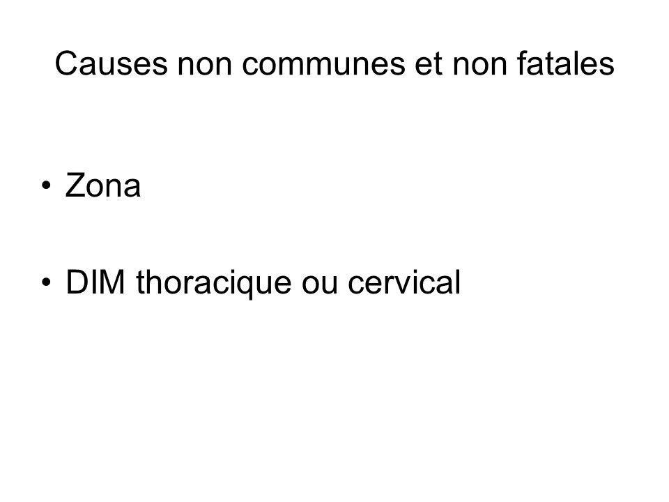 Causes non communes et non fatales