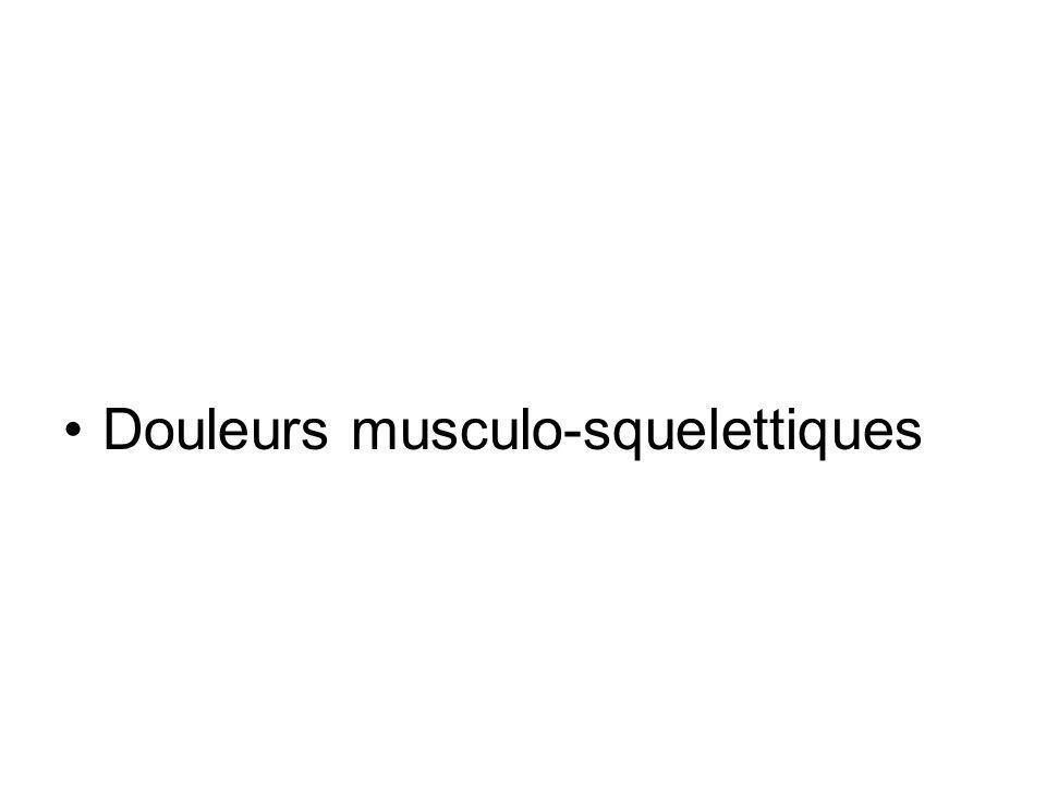 Douleurs musculo-squelettiques
