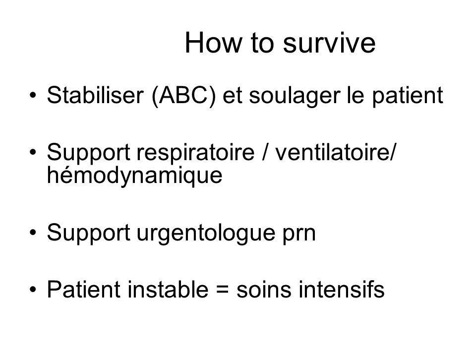 How to survive Stabiliser (ABC) et soulager le patient