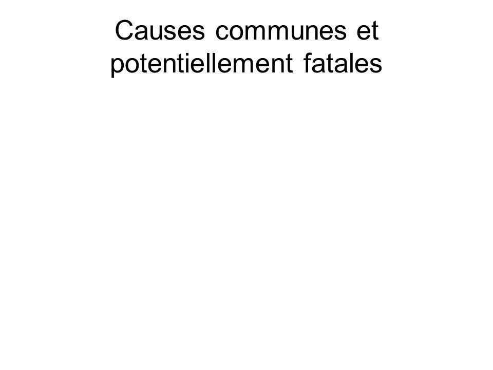 Causes communes et potentiellement fatales