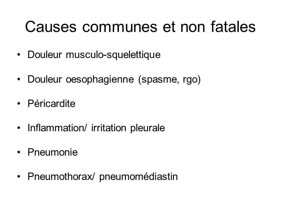 Causes communes et non fatales