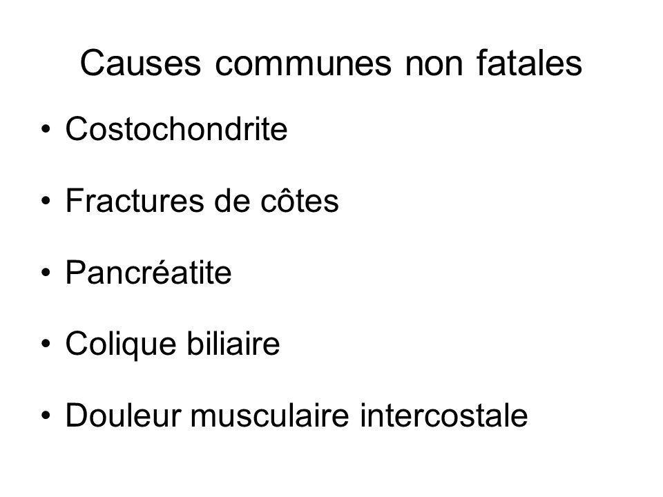 Causes communes non fatales