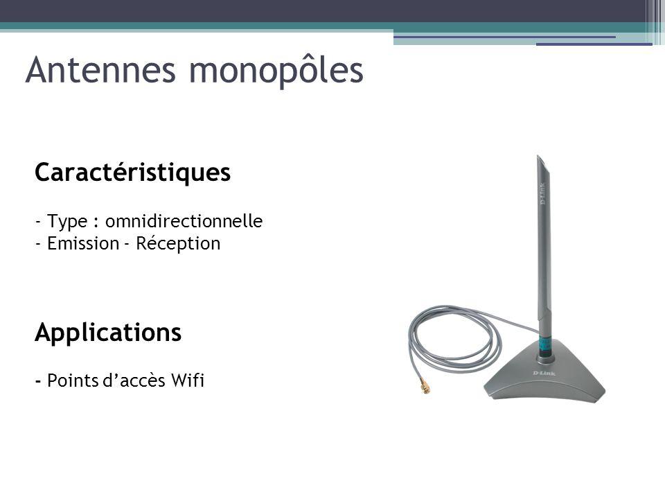 Antennes monopôles Caractéristiques Applications