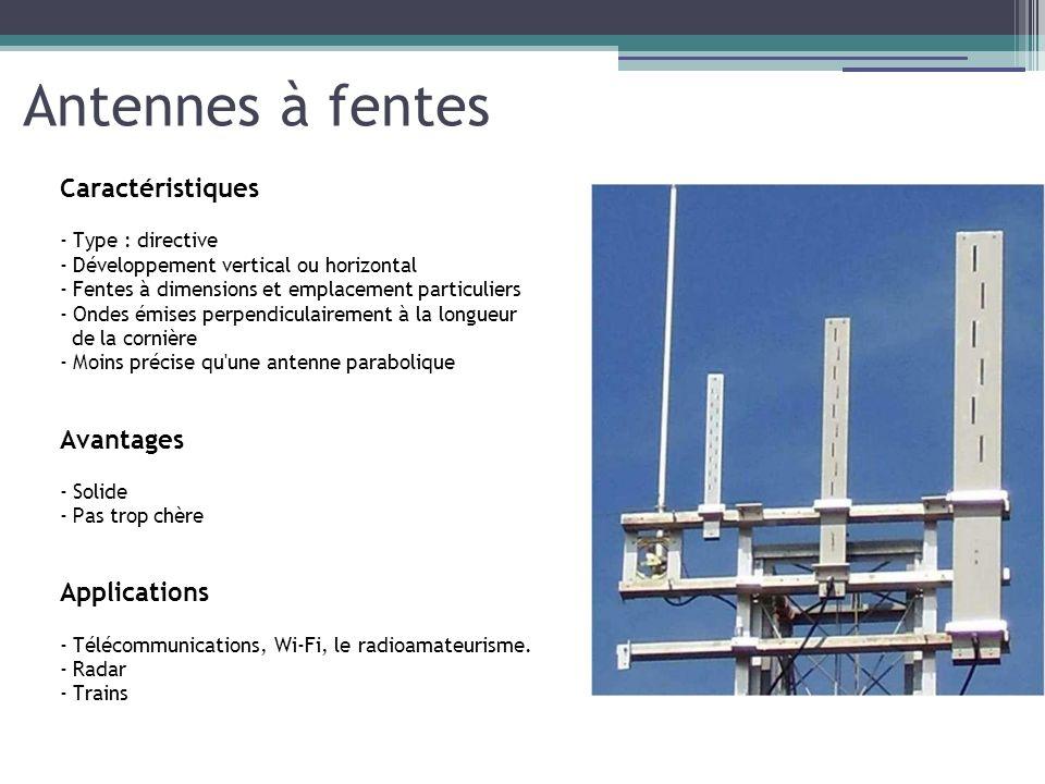 Antennes à fentes Caractéristiques Avantages Applications