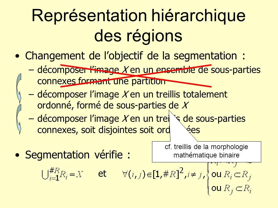 Représentation hiérarchique des régions