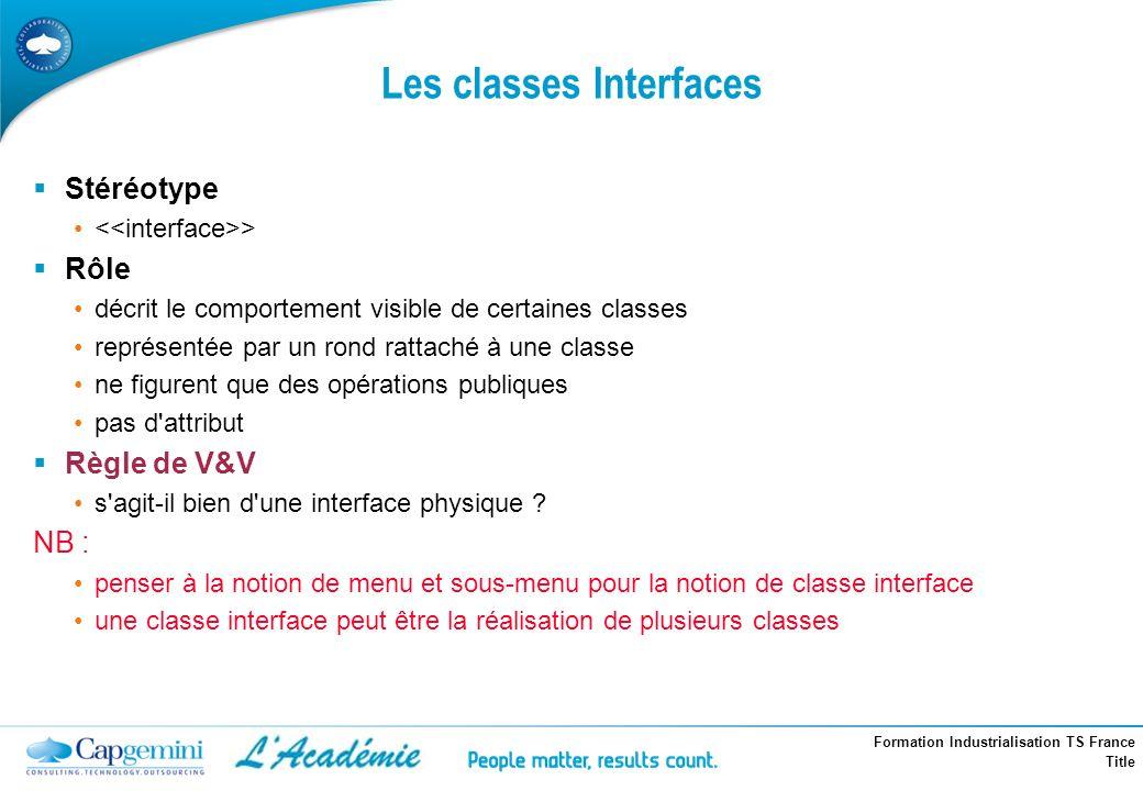 Les classes Interfaces